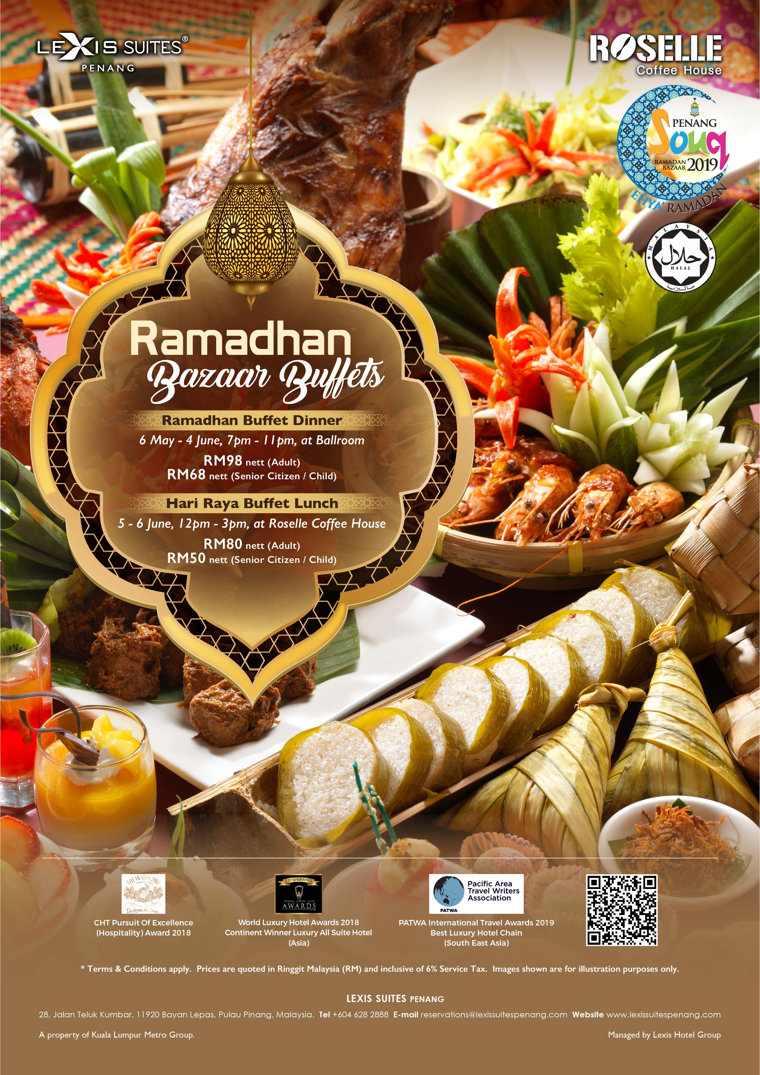 For The Month Of Ramadhan Lexis Suites Penang Offers A Special Bazaar Buffet Dinner With Your Favourite Traditional Malay Dishes All Under One Roof